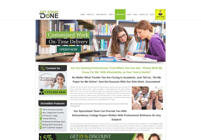 Getessaydone.com preview